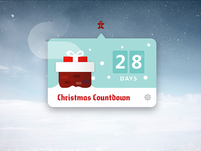 Daily UI Challenge 014 - Countdown Timer holiday christmas dropdown ui challenge challenge daily ui daily 014 ui countdown timer timer countdown