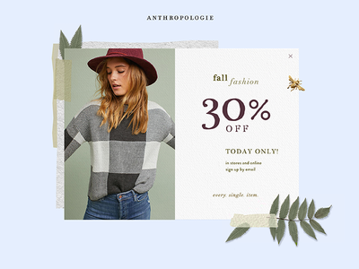 Daily Ui Challenge 016 - Popup/Overlay style card fashion anthropologie overlay popup ui challenge ui daily challenge challenge daily ui daily
