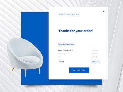 Daily Ui Challenge 017 - Email Receipt card web payment order 017 daily ui challenge challenge daily ui daily receipt email jonathan adler