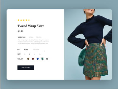 Daily Ui Challenge 033 - Customize Product customize product clothes webpage card fashion product customize 033 daily ui challenge dailyui daily