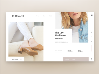 Everlane Webpage vx ui pastel homepage clean modern contemporary web fashion everlane webpage