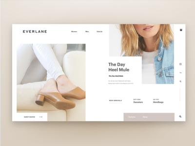 Everlane Webpage vx ui pastel homepage clean modern contemporary web fashion everlane webpage