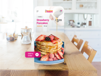 Daily Ui Challenge 040 Augmented Reality Food App