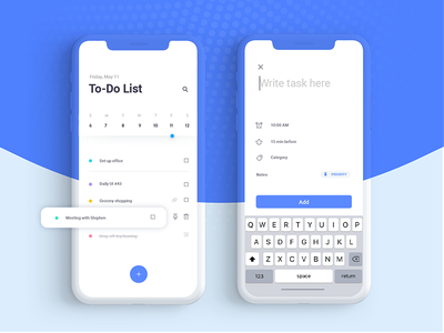 Daily Ui Challenge 042 - To-Do List 42 vx mobile to-do list 042 daily ui challenge ui daily task list todo