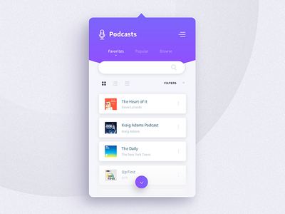 Daily Ui Challenge 044 - Favorites purple ux gradient menu dropdown favorites 044 daily ui challenge ui daily