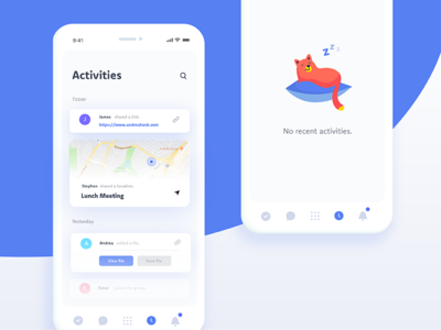 Daily Ui Challenge 047 - Activity Feed app mobile ux illustration cat empty state activity activity feed 047 challenge ui daily