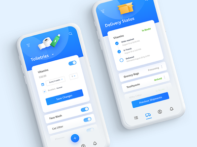The Daily Hack 6 - Automated Delivery Service shipment app mobile gradient ux illustration delivery automation challenge ui daily