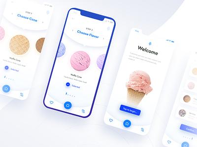 Ice Cream Generator App🍦 (Automated Hack #21) application vector ux ui navigation movie mobile menu ios icon ice cream generate food flat design card button branding app 2019