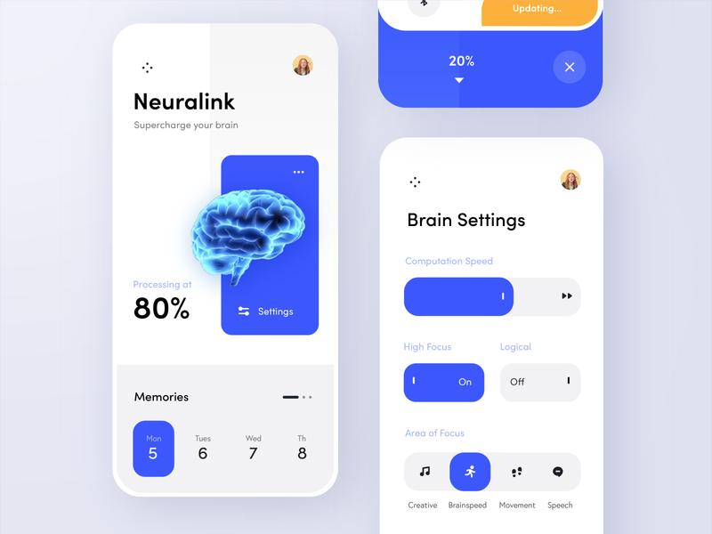 Neuralink Concept App - Adobe XD Livestream