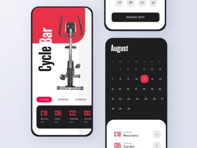 Cycle Bar App - Adobe XD Daily Creative Challenge Livestream