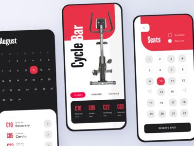 Cycle Bar App - Adobe XD Daily Creative Challenge Livestream 2