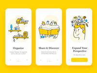Bookshlf App Onboarding Illustrations