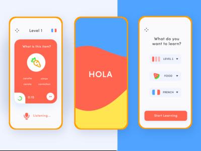 Language Learning App - Adobe XD Daily Creative Challenge
