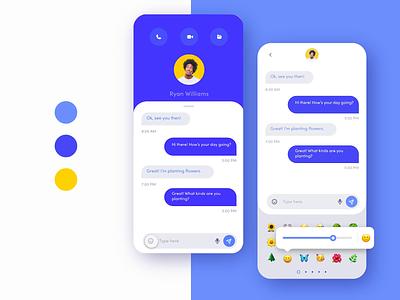 🔥Custom Emoji Sliders message app ios apple custom chat blue app mobile daily challenge animation prototype animated movie sliders emoji reaction emoji messaging text message
