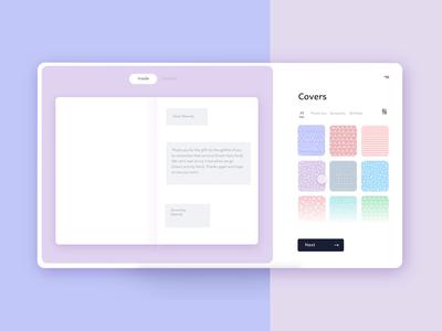 💌Custom Greeting Card Website midwest interface clean modern simple purple minimalism web design website adobe xd ux freelance designer filter customize greeting card custom card minimal challenge ui