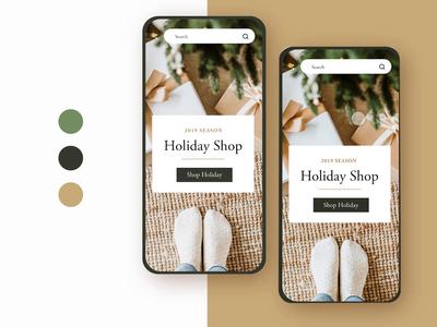 🎄Mobile Holiday Shopping Website modern branding pastel modern artisanal shop black friday shopping holiday christmas website mobile app prototype animation branding minimal ux app mobile challenge ui