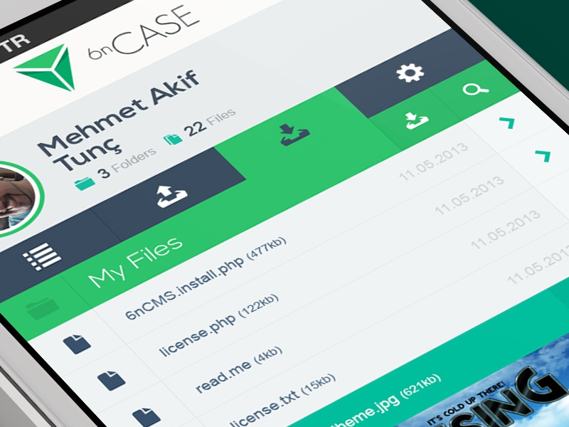 6nCASE redesign 6noran clean flat ui user interface mobile games
