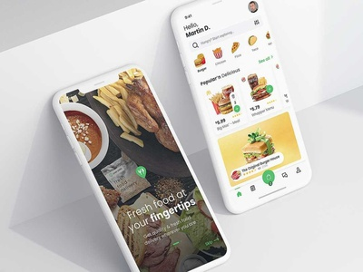 Just another flawless food app application food 6noran illustration branding ui ux mobile clean design startup