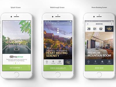 Mobile Hotel App ui kit room booking hotel development booking mobile ui ux 6noran