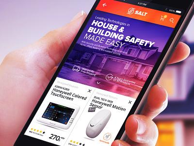 Salt Security Mobile UI mobile ui mobile design inspiration design ui mobile security salt 6noran