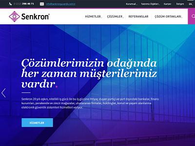 Senkron Responsive Web Page webdesign web uidesign startup inspiration senkron design mobile ux ui responsive 6noran