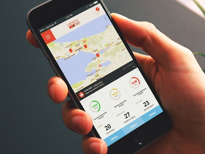 Vehilce Tracking App. startup mobile fleet vehilce tracking inspiration ux ui 6noran