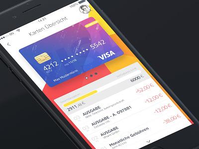 Mobile Banking Credit Cards Overview paypal mastercard visa startup design banking mobile inspiration ux ui 6noran
