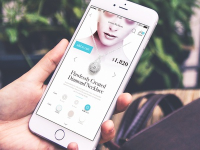 Accessible Luxury sexy ecommerce cart startup design uidesign jewel mobile inspiration ux ui 6noran