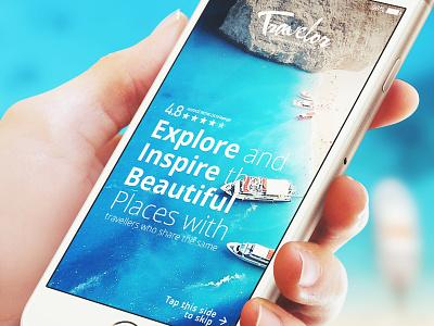 Travel App vacation summer startup design travel mobile inspiration ux ui 6noran