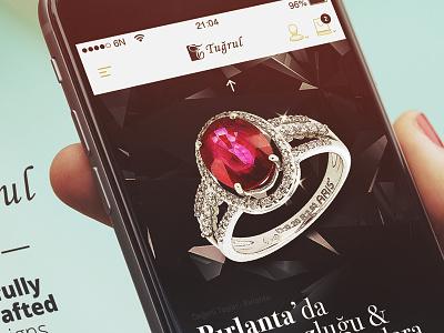 Tugrul Mobile sexy ecommerce cart startup design uidesign jewel mobile inspiration ux ui 6noran