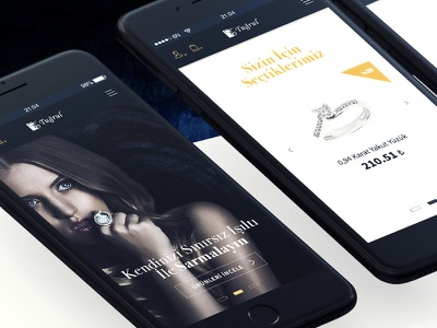 ETugrul jewellery e-commerce ecommerce cart jewellery startup design uidesign jewel mobile inspiration ux ui 6noran