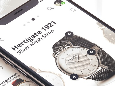 Mobile eCommerce Case Study ui app ux design inspiration watch mobile clean ecommerce startup