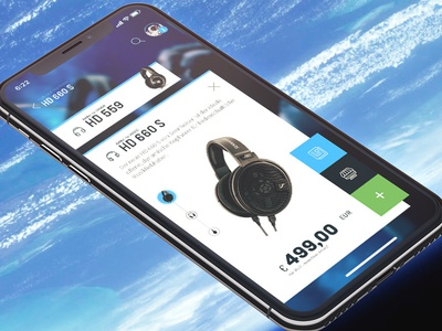 Landing & Product Screen ux ui mobile app design headphone inspiration startup ecommerce