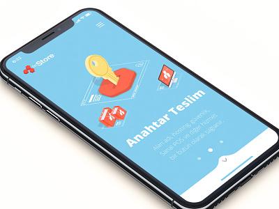 6nStore e-commerce platform ui red logo icon flat design app