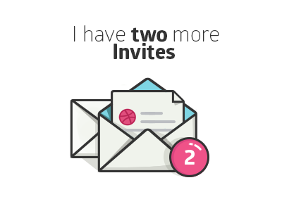 Go get your dribbble invitation! invitations invitation design brands invites invite art