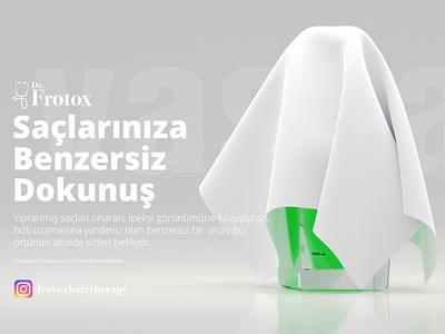 Dr. Frotox Under Construction Screen logo design clean branding 3d