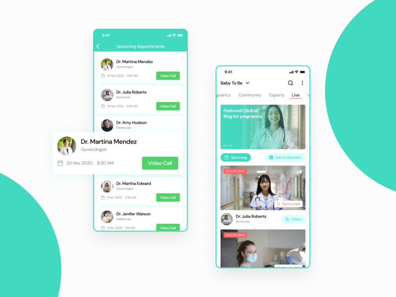 Parenting and Connected Pregnancy App doctor mother period workout baby care parenting app health product design concept ios mobile app ui ux diet app childcare pregnancy parenting app healthcare app healthcare