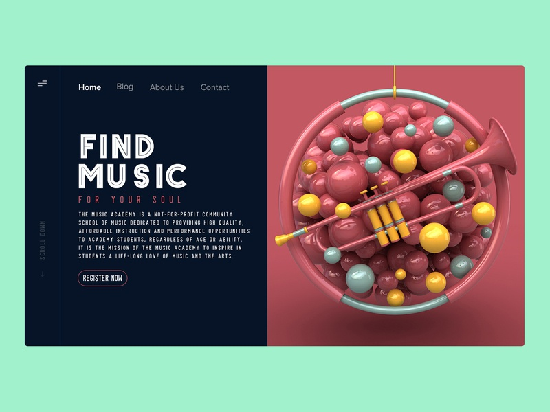 Music Academy adobe illustrator ux ui typography web  design web dailyui branding design dribbble