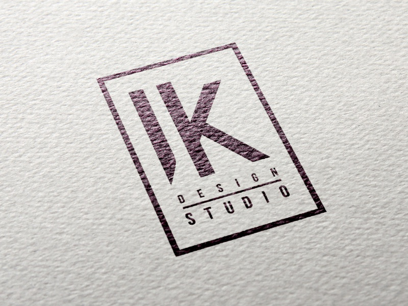 JK DESIGN STUDIO logo adobe illustrator typography illustration branding design dribbble