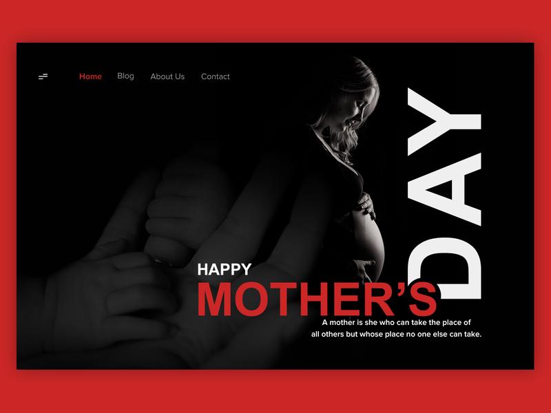 Mother's Day Banner website web  design dailyui ux ui typography illustration branding design dribbble