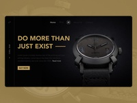UNITY AUTOMATIC  WATCH BANNER app website web dailyui web  design ui typography branding design dribbble