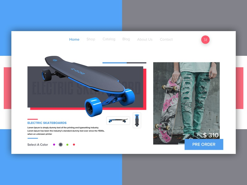 Skating Board Banner web dailyui web  design ui branding design dribbble