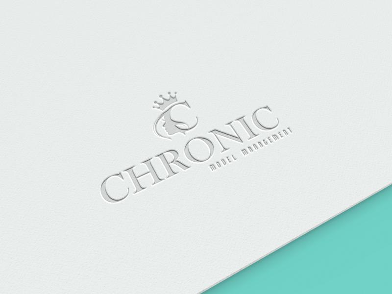 CHRONIC MODEL MANAGEMENT icon illustration vector logo branding design dribbble