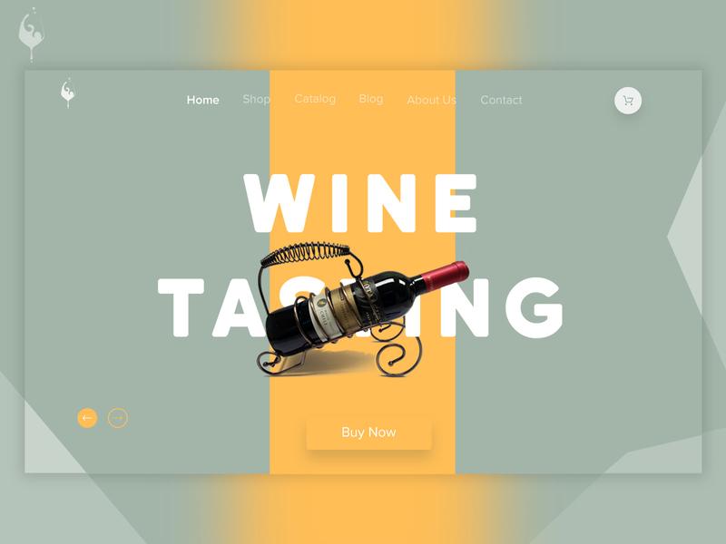 Wine banner ui branding design dribbble web  design