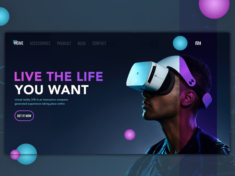 Vertiual Reality Headset Presentation Copy dailyui ui web  design dribbble
