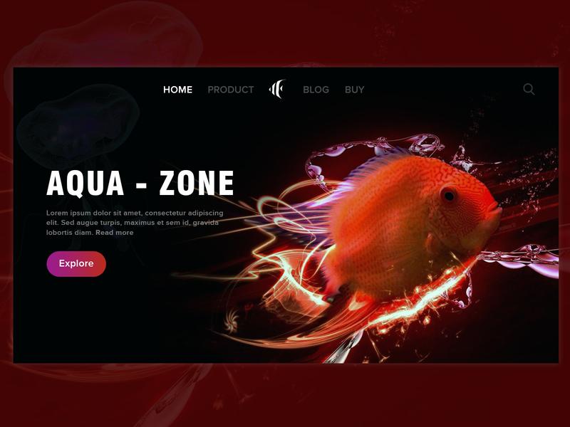 AQUA -ZONE web design ui dribbble