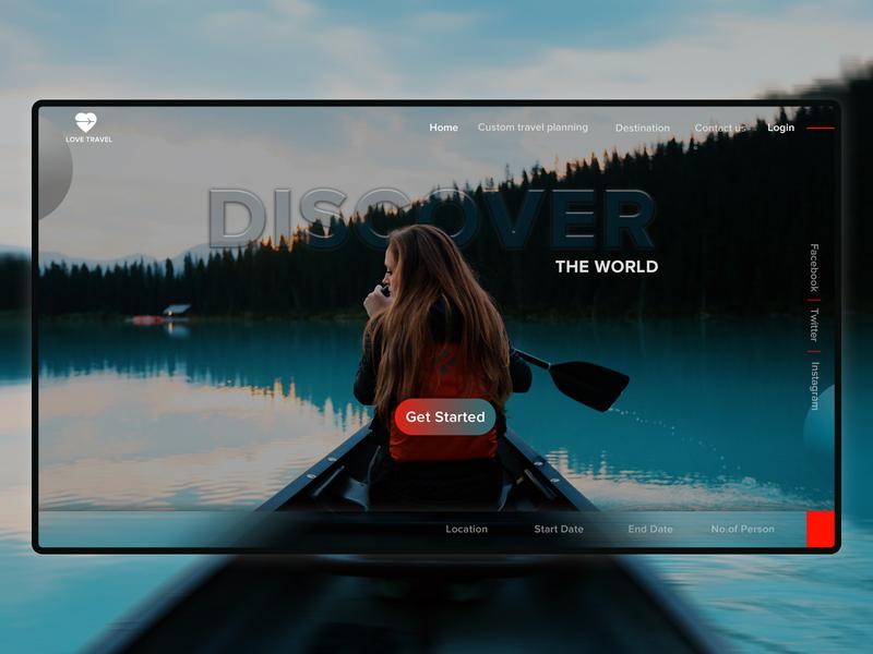 TRAVEL ux website minimal branding ui web  design web dailyui design dribbble