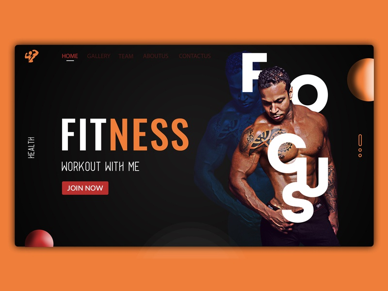 FITNESS clean type lettering illustrator adobe illustrator adobe photoshop ux website illustration vector logo icon design ui web  design web typography dailyui branding dribbble