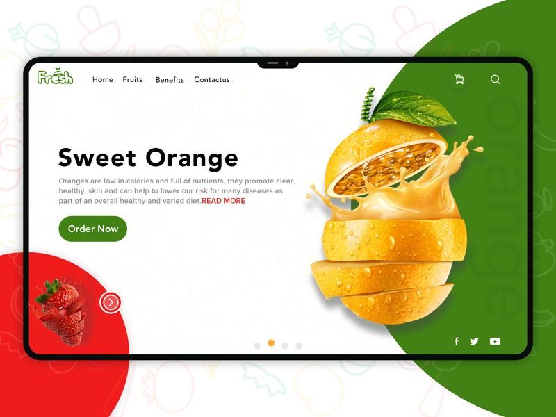 Sweet Orange Banner ux color lettering illustrator adobe photoshop adobe illustrator minimal website illustration vector logo icon web  design web ui typography dailyui branding design dribbble