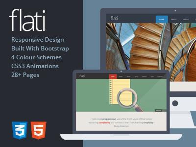 Flati Bootstrap Template flat flat design twitter bootstrap html template themeforest responsive